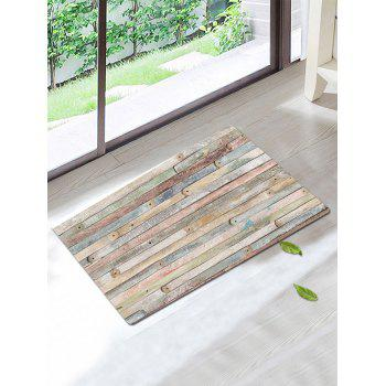 Wood Pattern Antiskid Bath Rug