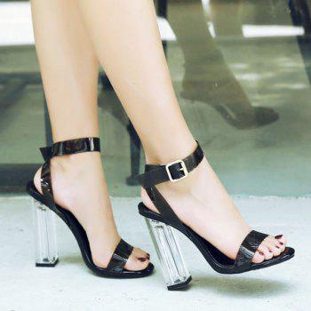 Clearn Heel Ankle Strap Sandals