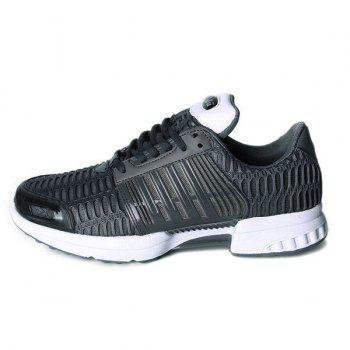 Mesh Breathable Faux Leather Insert Athletic Shoes - 42 42