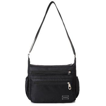 Nylon Cross Body Bag with Side Pockets