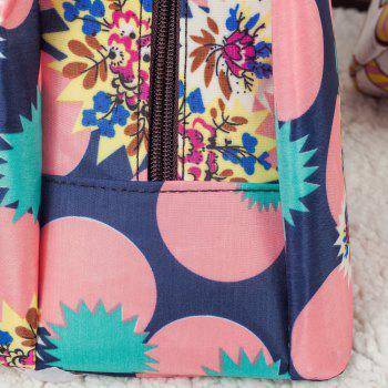 Nylon Printed Lunch bag -  BLUE