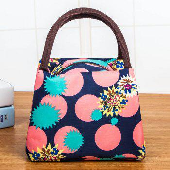 Nylon Printed Lunch bag - BLUE BLUE
