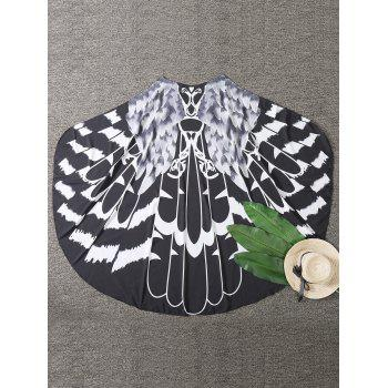 Mandala Feather Print Beach Cover Up