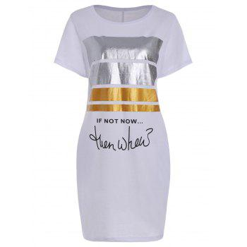 Glitter Graphic Print Pocket Tee Dress