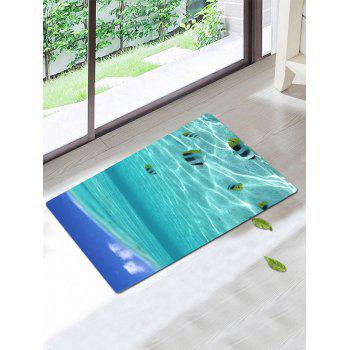 3D Underwater Fish Coral Fleece Bath Rug