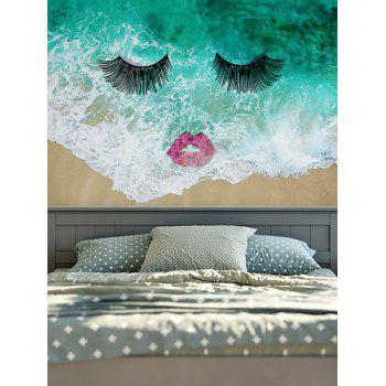 Wall Hangings Sea Wave Eyelash Lip Print Tapestry