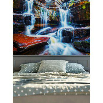 3D Waterfall Print Wall Hangings Rectangle Tapestry