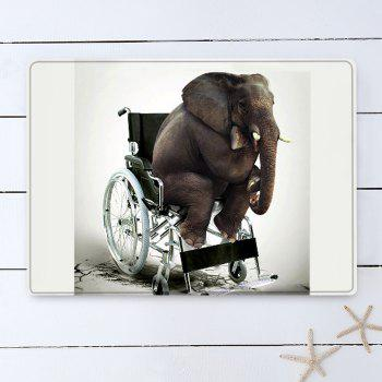 Elephant On The Wheelchair Pattern Indoor Outdoor Area Rug