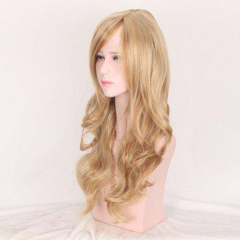 Colormix Oblique Bang Layered Long Wavy Party Synthetic Wig