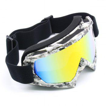 UV Protection Dustproof Off Road Riding Goggles -  BLACK WHITE