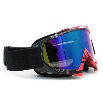 UV Protection Dustproof Off Road Riding Goggles - BLACK/PINK