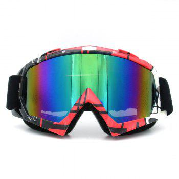 UV Protection Dustproof Off Road Riding Goggles - BLACK AND PINK BLACK/PINK