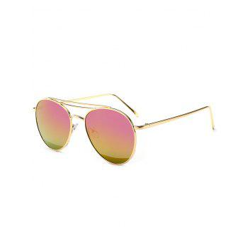 Mirror Double Metal Crossbar Pilot Sunglasses