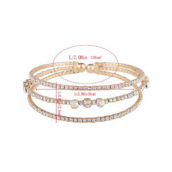 Bracelet en mousse strass en alliage - Or