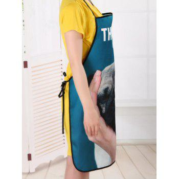 Thinking Dog Cooking Waterproof Fabric Apron - COLORMIX 80*70CM