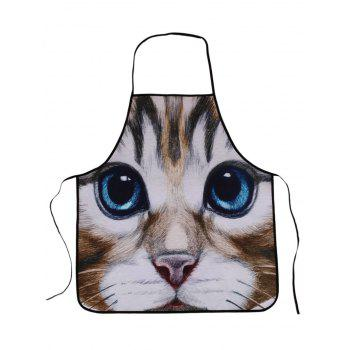 Cat Animal Polyester Waterproof Cooking Apron
