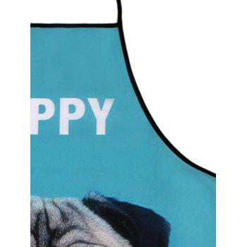 Pug Print Kitchen Tool Waterproof Apron - LAKE BLUE 80*70CM