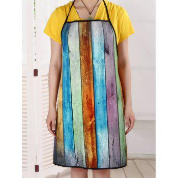Colorful Woodgrain Fabric Water Resistant Apron - COLORMIX 70*70CM