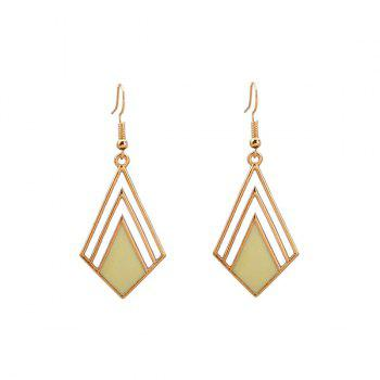 Geometric Hook Drop Earrings
