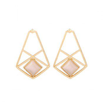 Geometric Artificial Opal Earrings