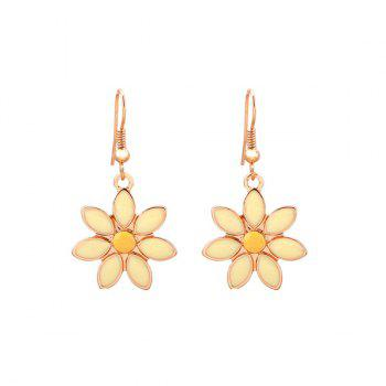 Floral Hook Drop Earrings
