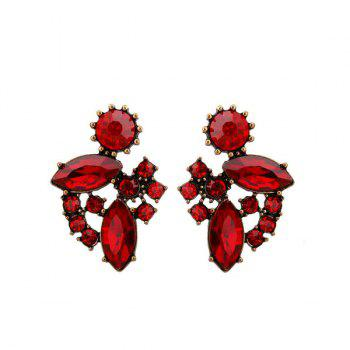Vintage Artificial Ruby Earrings