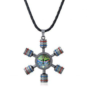 Decoration Tree of Life Fidget Spinner Necklace