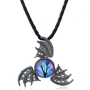 Decoration Devil Wings Fidget Spinner Necklace