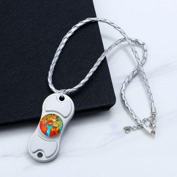 Decoration Tree of Life Hand Spinner Necklace -  SILVER