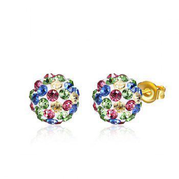 Rhinestone Ball Stud Tiny Earrings