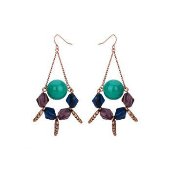 Vintage Resin Geometric Ball Hook Earrings