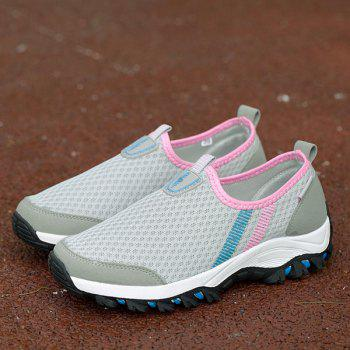 Colour Block Mesh Breathable Athletic Shoes - LIGHT GRAY LIGHT GRAY