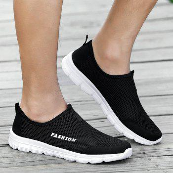 Mesh Slip On Breathable Casual Shoes - BLACK BLACK