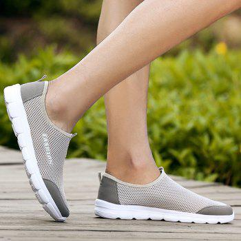 Mesh Slip On Breathable Casual Shoes - LIGHT GREY 40