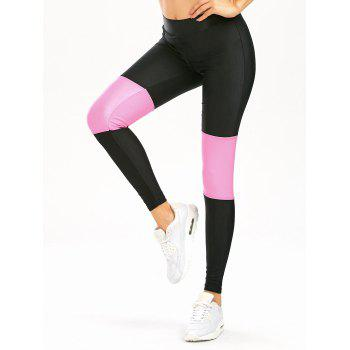 High Waist Color Block Workout Leggings