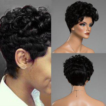 Layered Shaggy Short Curly Human Hair