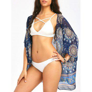 Bohemia Ethnic Printed Beach Chiffon Cover Up
