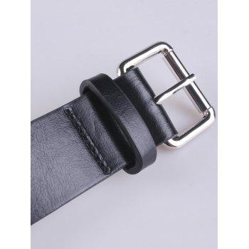 Punk Hollow Out Rivet Artificial Leather Belt - BLACK