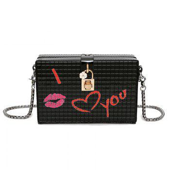 Lock Embellished Chain Crossbody Bag