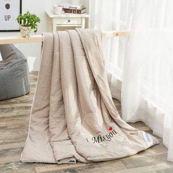 100% de conditionnement de polyester I Miss You Blanket - Brun Clair QUEEN