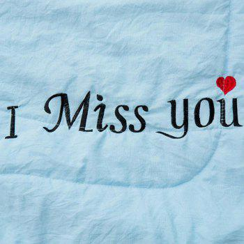 100% de conditionnement de polyester I Miss You Blanket - Pers QUEEN