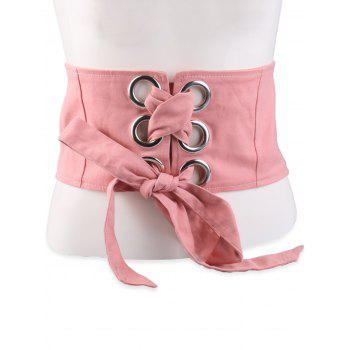 Wide Snap Button Lace Up Corset Belt
