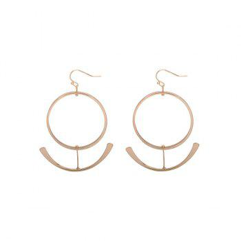 Gold Plated Anchor Big Hoop Earrings