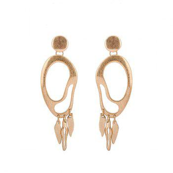 Zinc Alloy Statement Gold Drop Earrings