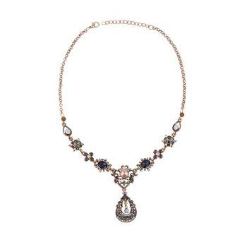 Bohemia Waterdrop Diamond Pendant Necklace