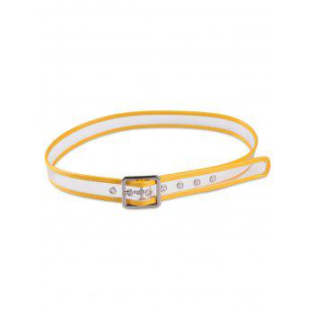 Candy Color Brim Transparent Pin Buckle Belt - YELLOW YELLOW
