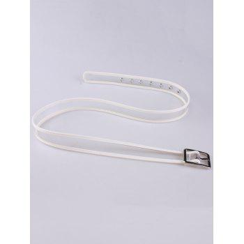 Candy Color Brim Transparent Pin Buckle Belt -  WHITE