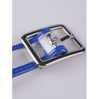 Candy Color Brim Transparent Pin Buckle Belt -  BLUE
