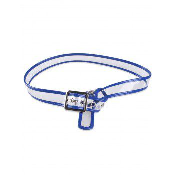 Candy Color Brim Transparent Pin Buckle Belt - BLUE BLUE