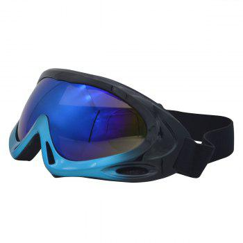 Dustproof Anti Fog UV Protection Riding Goggles - BLUE/BLACK